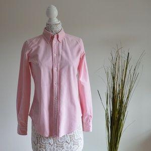 Ralph Lauren Pink Super Slim Fit Button Down Shirt